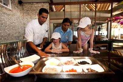 Making pizzas in the Maldives
