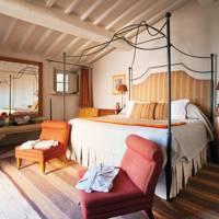 Guest house at Villa Chiusa, Castiglion del Bosco, Tuscany, Italy