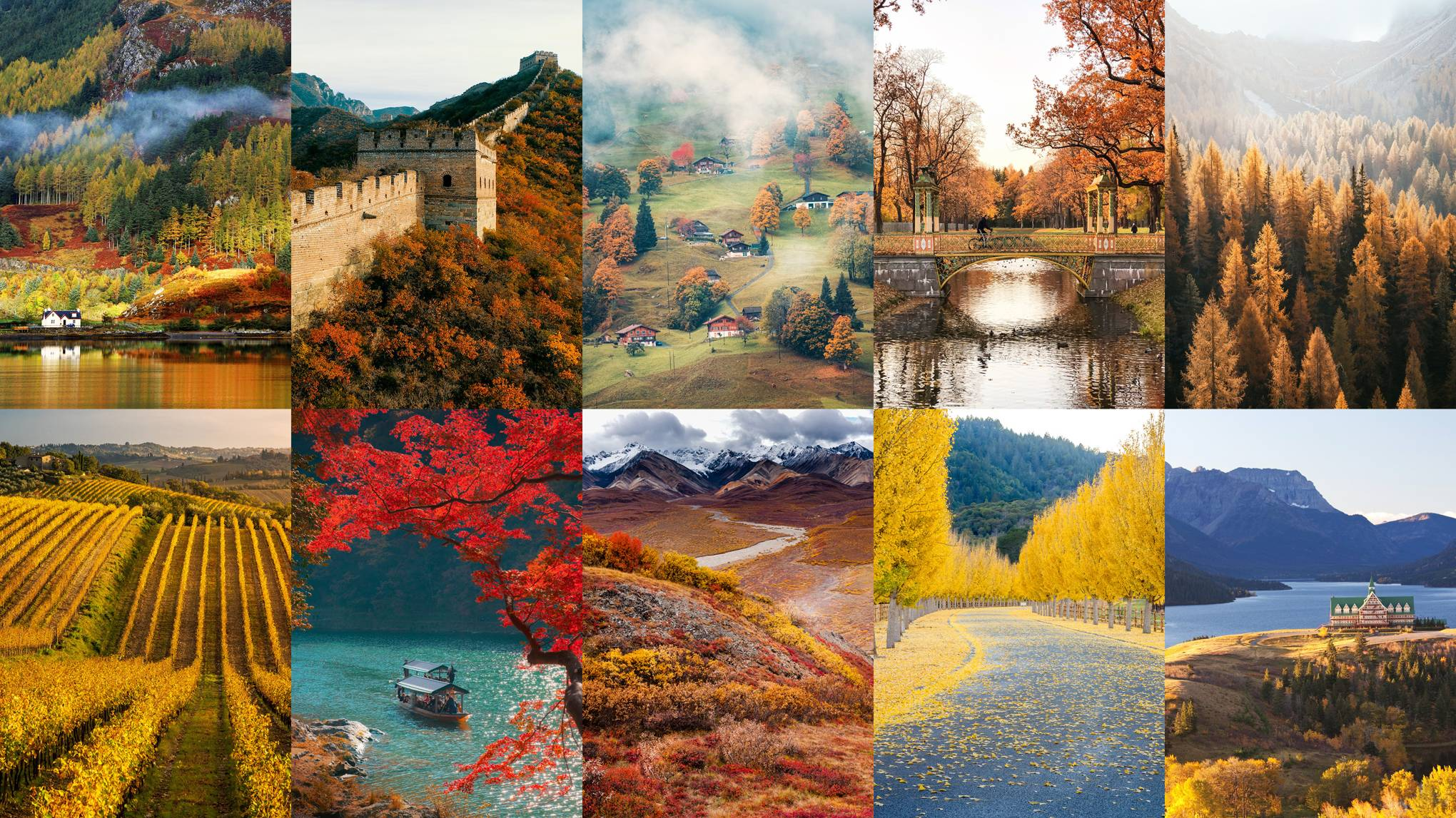 The most beautiful autumn landscapes around the world
