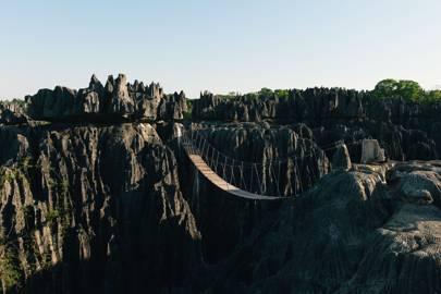Suspension bridge, Madagascar