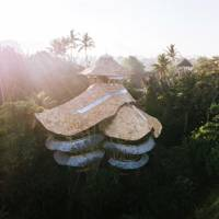 A bamboo mansion in Bali, Indonesia