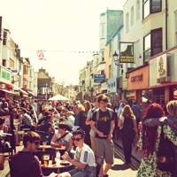Cafés and shops in Brighton