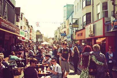 Cafés and shops in Brighton