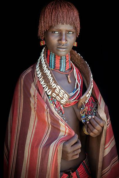 A woman from the Hamar tribe, Ethiopia