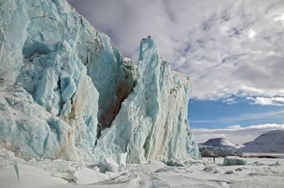Frozen Planet photography: glacier meltdown in the Arctic
