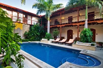 Swimming Pool At Hotel Plaza Colon Granada