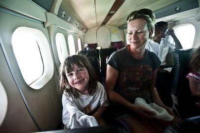 On board the sea plane