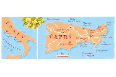 Getting to Capri, Italy