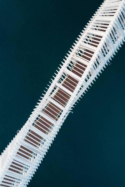 Dubai Water Canal bridge, United Arab Emirates
