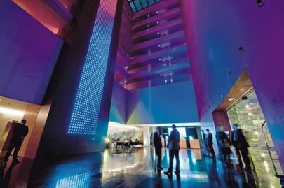 The lobby at W Barcelona