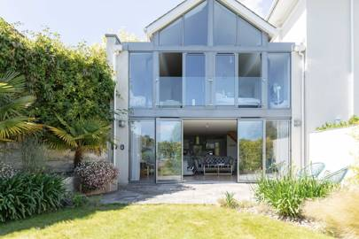 A glass-fronted home