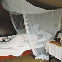 Guest tent at Campi Ya Mungu