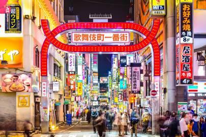 Tokyo in neon lights