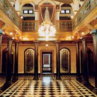 Hall of Chettinad Chettiar mansion