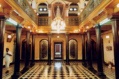 Hall of Chettinad Chettiar mansion