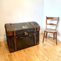 Leather-bound steamer trunk from Etsy, £250