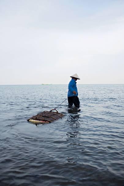 Crab fishing on the Mekong