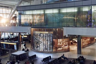 850d3841bfe Louis Vuitton at Heathrow Terminal 5. The French fashion house unveils its  first airport store ...