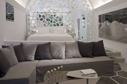 Master bedroom at The Villa at Grace Santorini