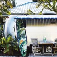 An Airstream caravan at Atlantic Byron Bay, Australia