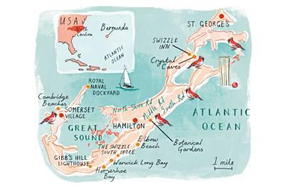 Map of Bermuda by Heather Gatley