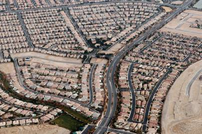 The outskirts of Las Vegas