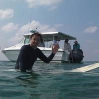 Surfing off Kuda Huraa