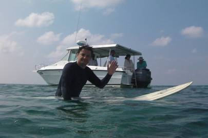 Surfing off Kuda Huraa