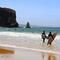 Surfing in Portugal