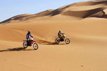 Off-road motorcycling across the Sahara