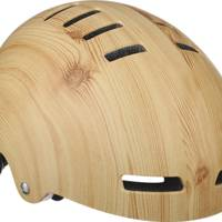Wooden cycling helmet