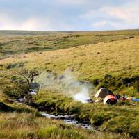 Wild camping on Dartmoor, Devon