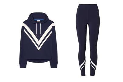 Tory Sport Terry chevron hoodie and high-rise leggings