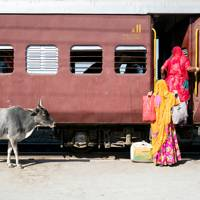 A Train journey in India