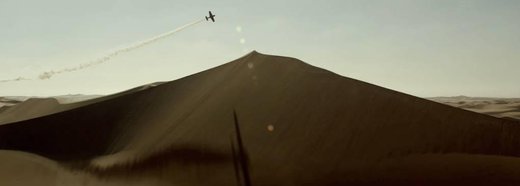 A daring flight over Namibia's hazy landscape