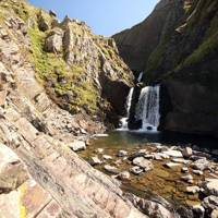Speke's Mill Mouth waterfall, Devon