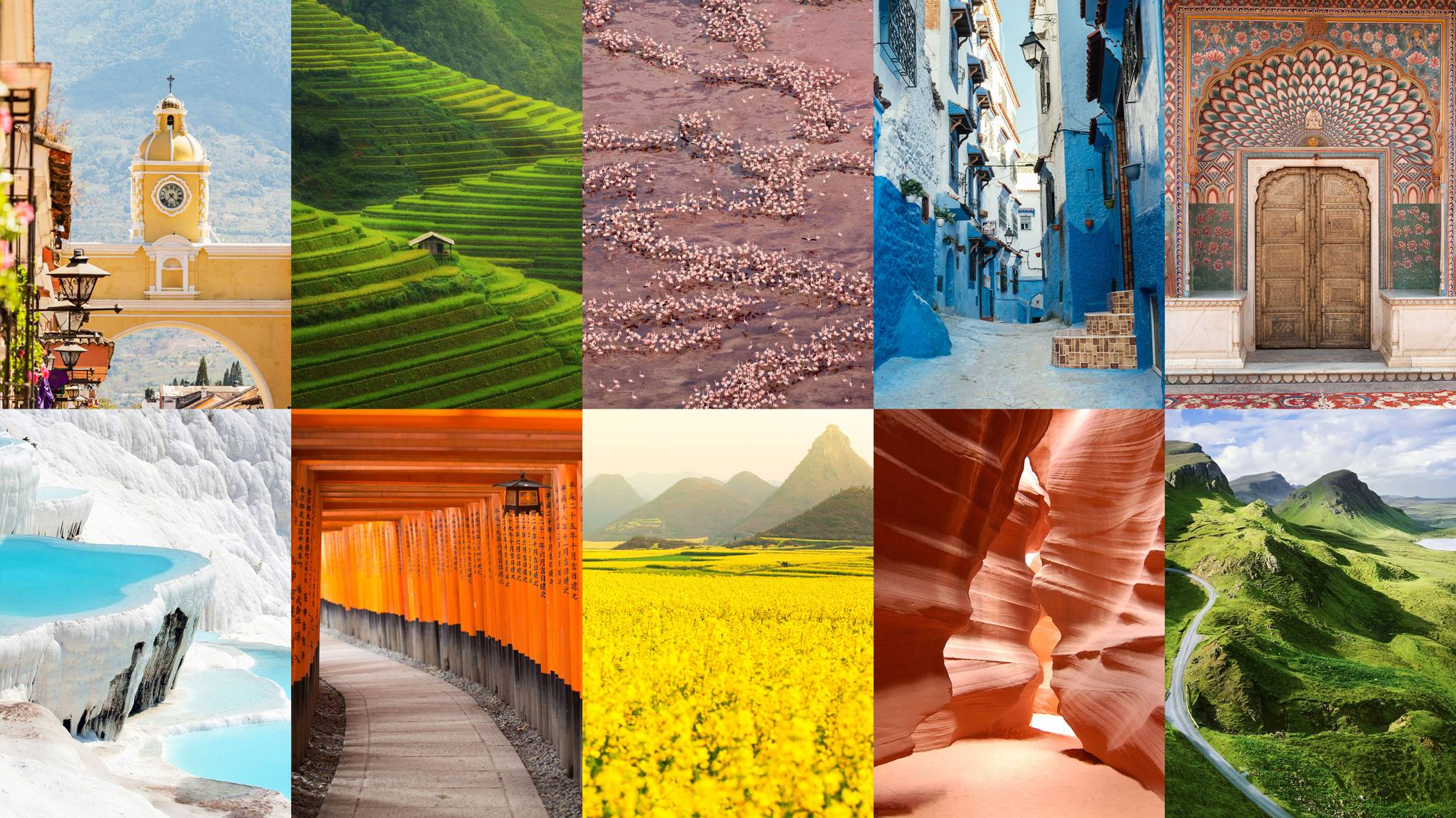 The most colourful places in the world
