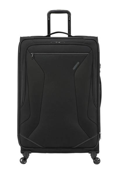 2. American Tourister Eco Wanderer Spinner Expandable Suitcase