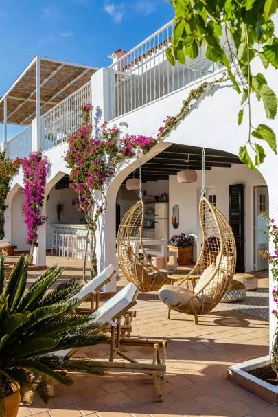 Whitewashed villa