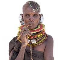 A woman of the Turkana tribe, Kenya