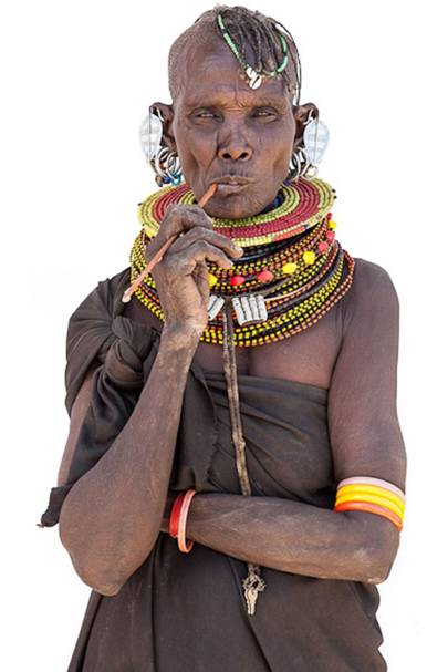 A woman of the Turkana tribe, Kenya