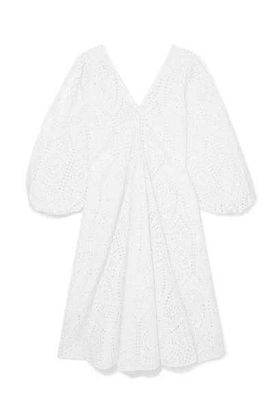 10. Ganni white summer dress