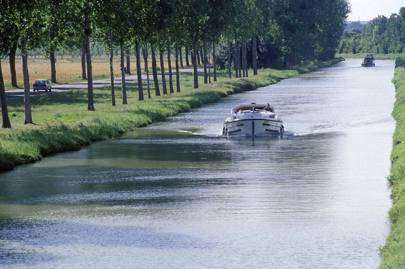 Boating on the French canals