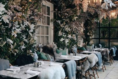 Get cosy at a winter terrace