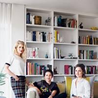 Eva Shuman, Megan Bowren and Frances van Hasselt