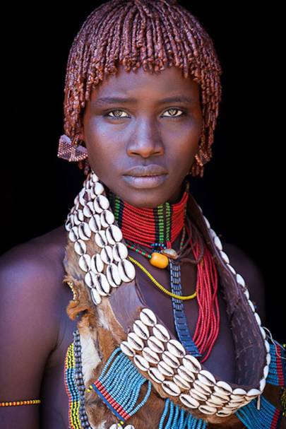A girl from the Hamar tribe, Ethiopia