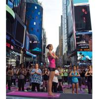 Solstice Yoga in Times Square, New York