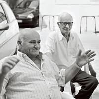 Sicilian men in the town of Grotte