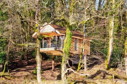 Eco treehouse, Devon