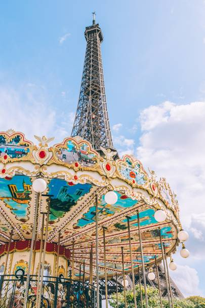 The Carousel and The Eiffel Tower